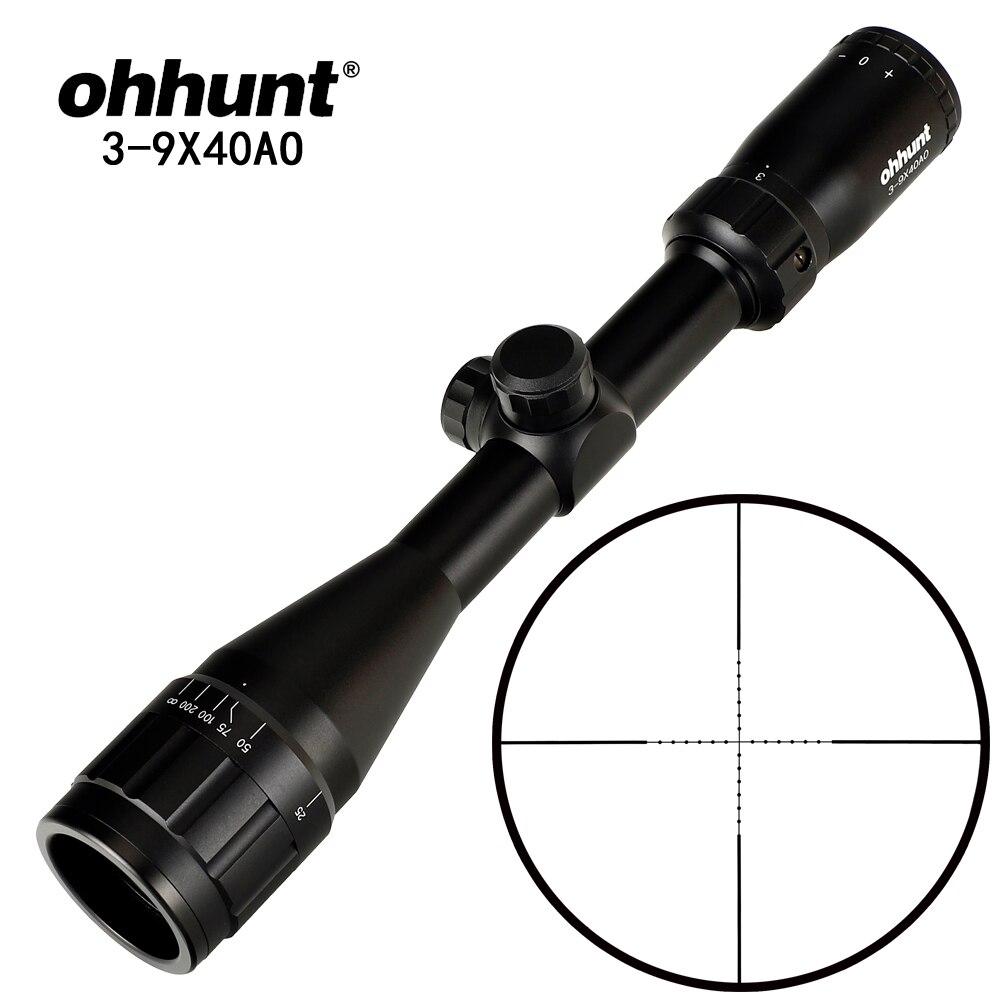 Ohhunt optique de chasse 3-9X40 4-16x40 6-24x50 4x32 lunette de visée Mil Dot réticule portée de fusil tactique avec anneaux Picatinny