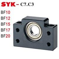 SYK End Support Unit BF10 BF12 BF15 BF17 BF20 C3 C7 Motor Bracket Nut Housing for Ballscrew SFU 1204 1605 2005 2505