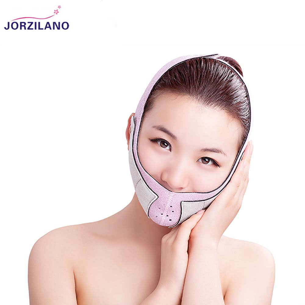 JORZILANO 3D Face Massage Mask Whole Wrap Relaxation Facial Slimming Masseter Double Chin Lifting Up Tape Skin Care Bandage Belt 7pcs face mask 2n the skin tight skin face care thin face bandage powerful v line slimming product lifting beauty skin care