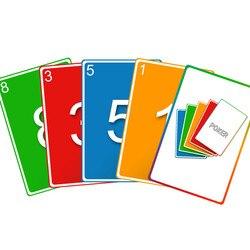 Scrum poker ag desenvolvimento ágil cartão de poker projeto dificuldade cartão de estimativa