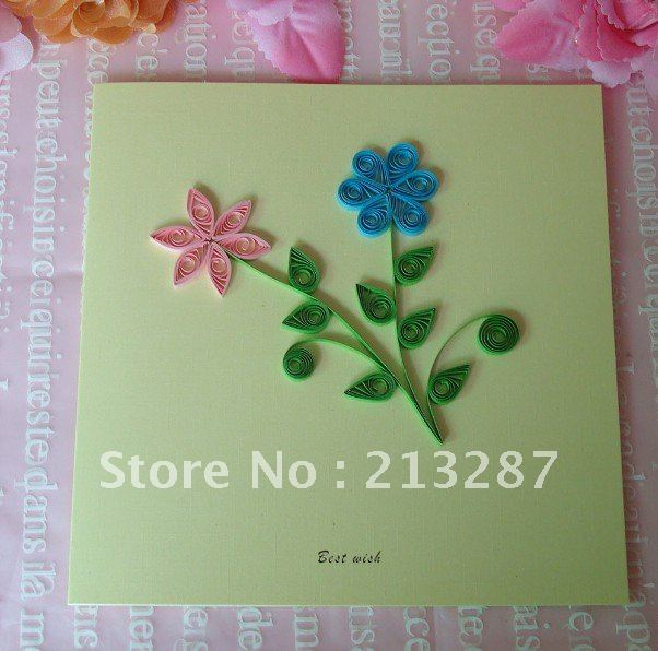 3 Color Flower Design Diy Cards Handmade Creative Kirigami