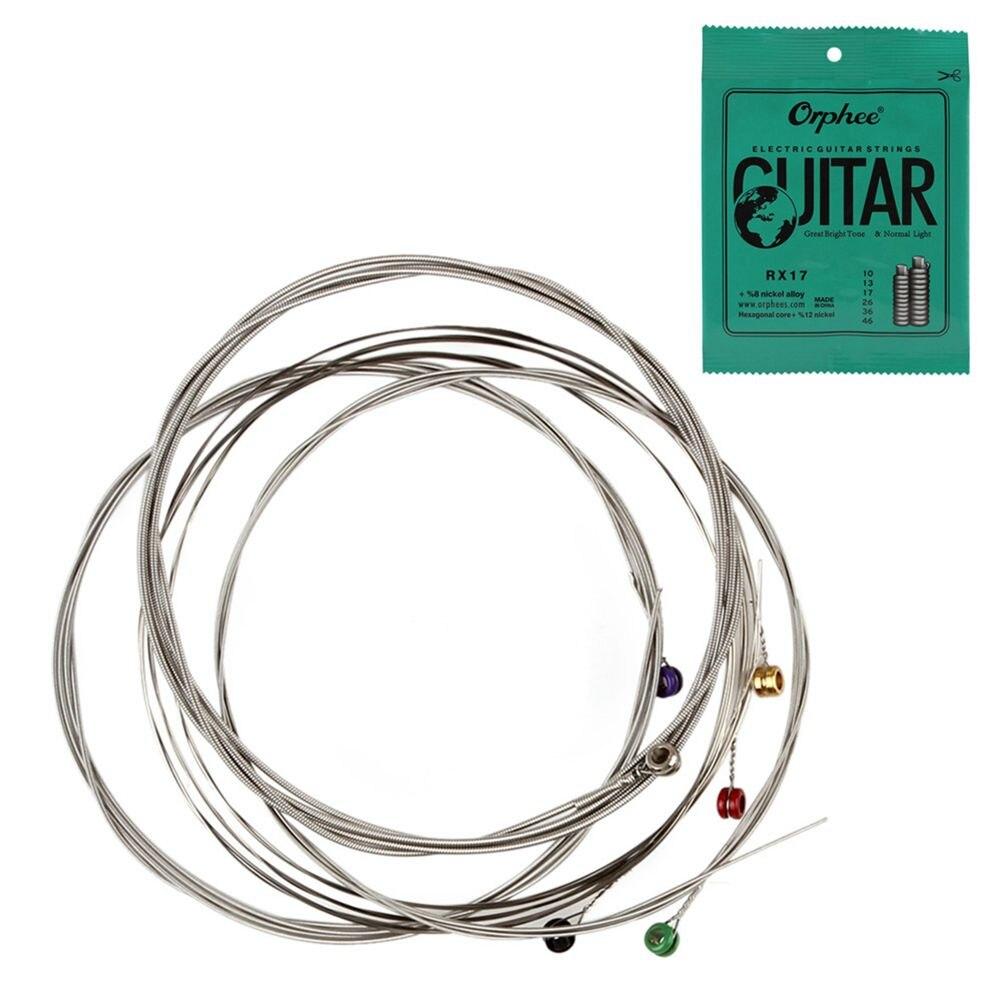 buy orphee 6pcs set electric guitar string set nickel alloy string super light. Black Bedroom Furniture Sets. Home Design Ideas