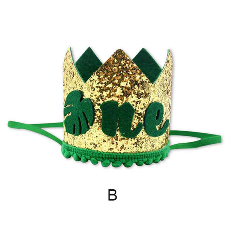 สัตว์ธีมแบนเนอร์ตกแต่ง crown อุปกรณ์ 1 ปีวันเกิด/ของขวัญฉลองอุปกรณ์เสริม