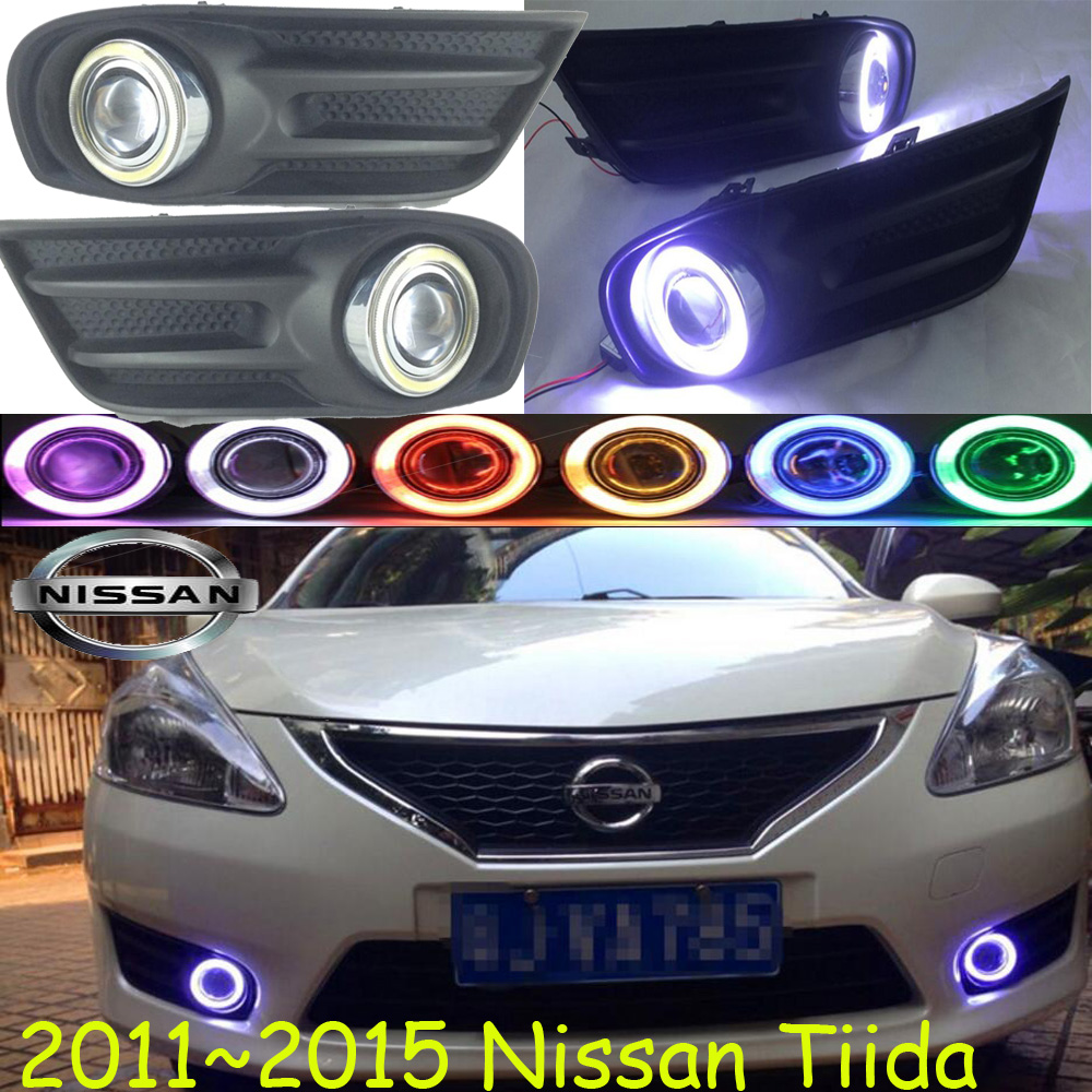 Tiida fog light 2011~2015 Free ship!Tiida daytime light,2ps/set+wire ON/OFF:Halogen/HID XENON+Ballast,Tiida 2011 2013 golf6 fog light 2pcs set wire of harness golf6 halogen light 4300k free ship golf6 headlight golf 6