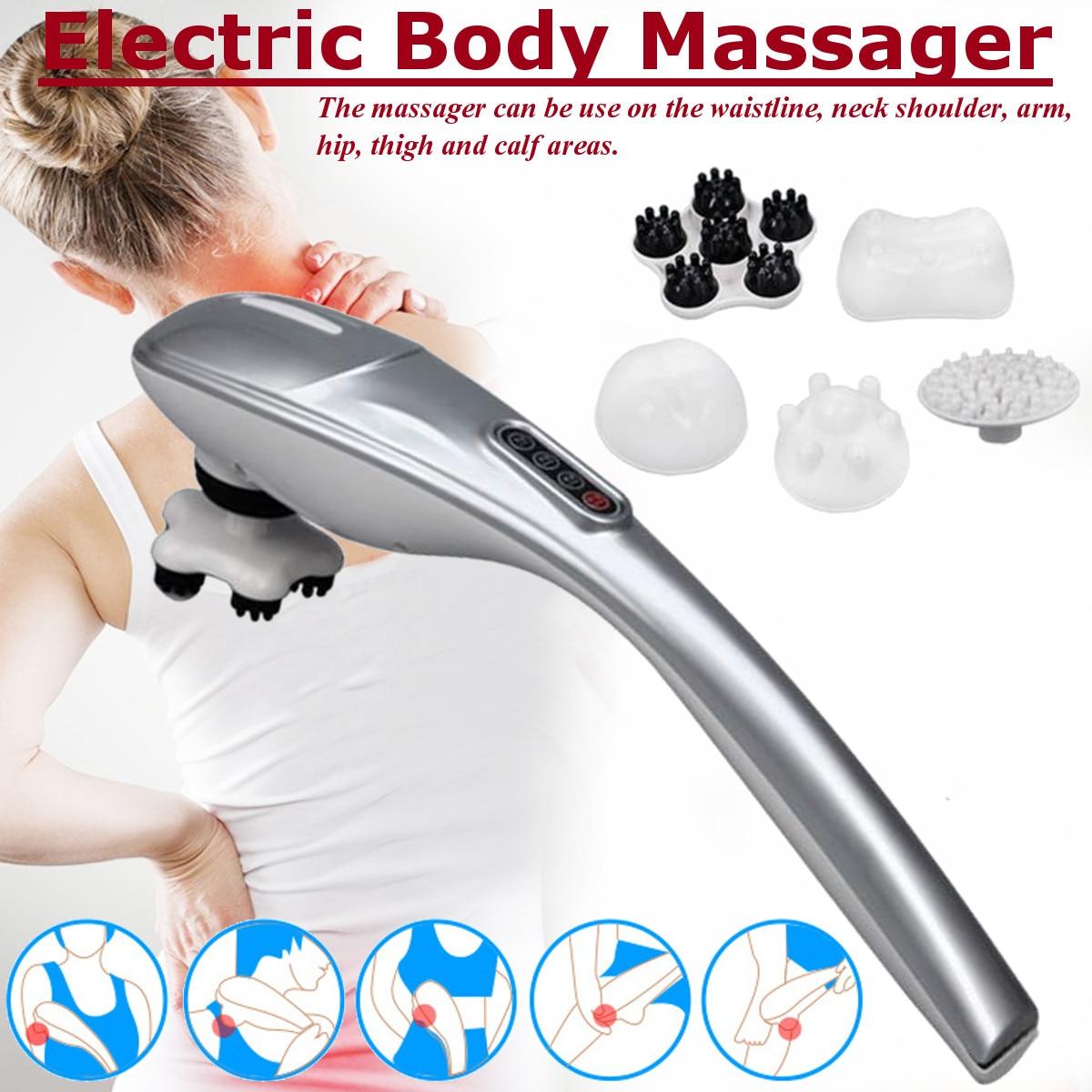 5 In 1 Electric Neck Massager Hammer Infrared Massage Back Relax Waist Knocking Handheld Vibrator Cervical