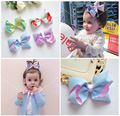 1pcs Large Bows for Baby Girls Hair accessories Double layer Girls Ribbon bows Hair clips Lovely Bow For hair Kids Top Bow knot