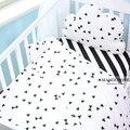 (Funda nórdica 1 unids) bebé juego de cama cubierta del edredón del bebé del diseño blanco y negro 1 unids dot triángulo árbol patrón de rayas para niñas niños