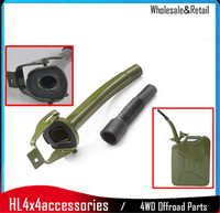 Green Metal Steel Jerry Can Spout Pour For 5L 10L 20L Fuel Petrol Diesel Oil Can