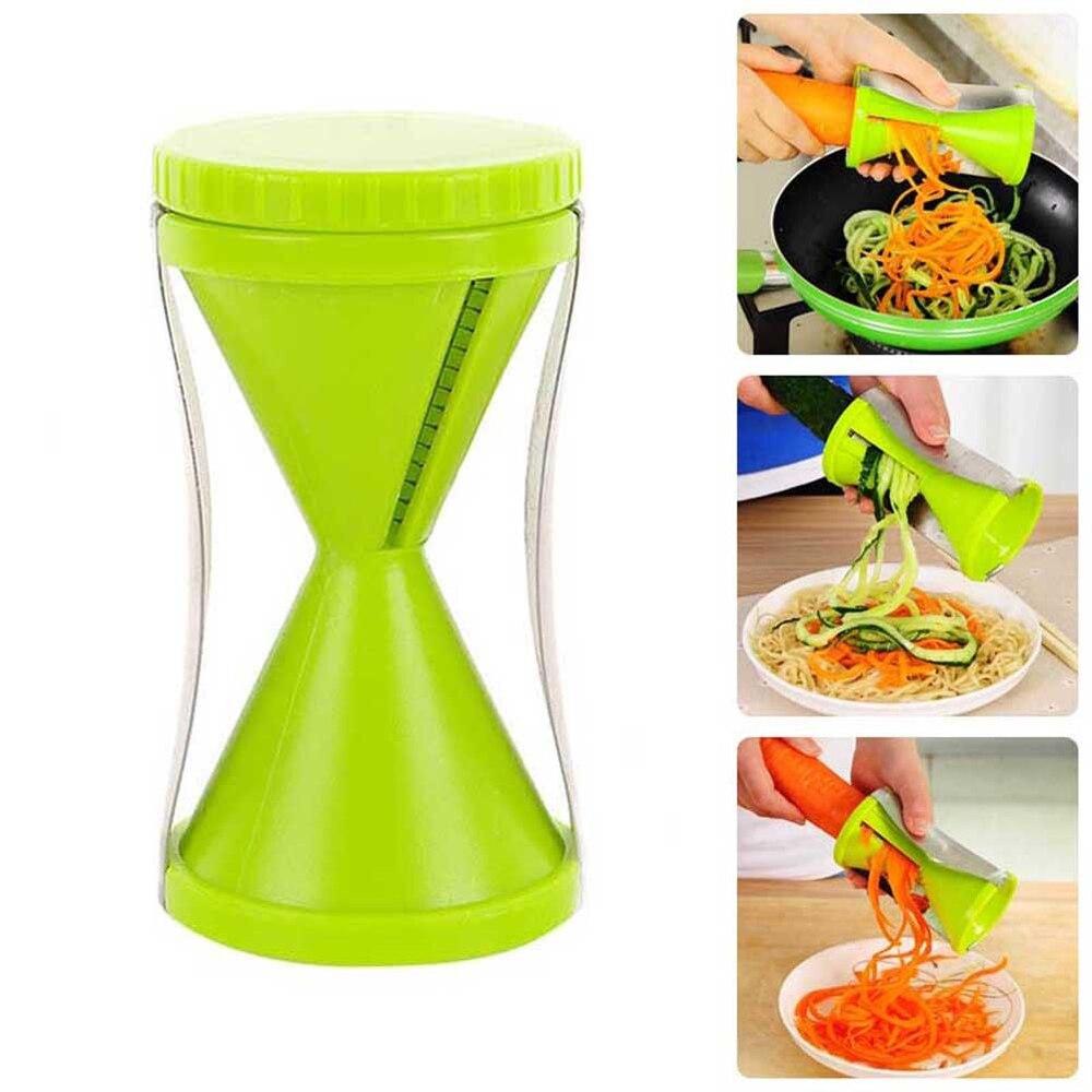 1 x Cortador De Verduras Espiral Vegetal Fruta Twister Slicer Cortador Rallador