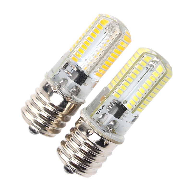 E17 <font><b>LED</b></font> Bulb Microwave Oven <font><b>Light</b></font> Dimmable 3 Watt Warm White 2700K 80X3014SMD AC110-130V Perfect replacement halogen lamp 10pcs image