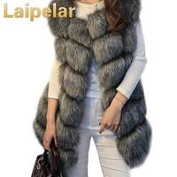 Laipelar 2018 Winter Coat Fur Women Winter Warm Luxury Fur Vest Women's fur Coats Jacket High Quality Faux Fur Coat