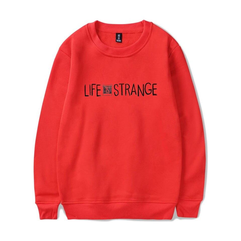 Life Is Strang Spring Mens Loose Knit Sweater hip hop Harajuku Hoodie 4XL Workwear Sportswear Life Is Strang