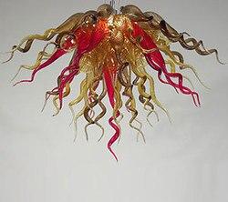 Multi kolorowe ze szkła Murano domu kryształowe żyrandole w chinach|Żyrandole|Lampy i oświetlenie -