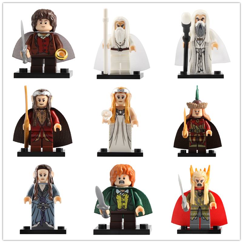 LegoING Lord Of The Rings Minifigured Gandalf Elrond Galadriel Playmobil Building Blocks Figure Toys For Children CP8148