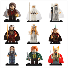 LegoING Lord of the Rings Minifigured Gandalf Elrond Galadriel Playmobil บล็อกอาคารรูปของ(China)