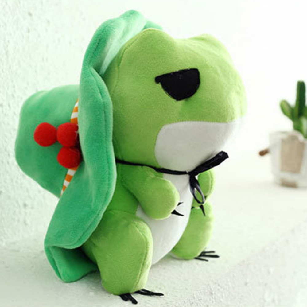 Travel Frog Hat Game Girls Baby kids comfort Soft Valentines Day Xmas Gift Toys Plush Bunny Sleeping Stuffed & Plush toy doll