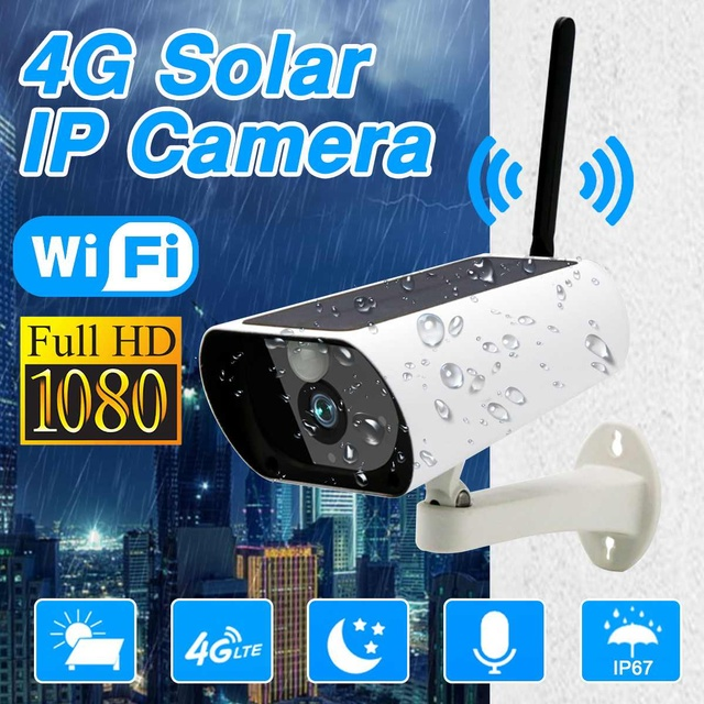 4G Solar Security Camera PIR Camera 1080p Real-time 2G2P FULL Super-angle Lens Talk Wireless Camera Solar Camera