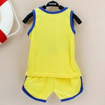 2019 Summer Baby Clothing Set Cotton Vest & Shorts Newborn Baby Boy Clothing Sets 0-2 Year Baby Suit Baby Boys Clothes 1