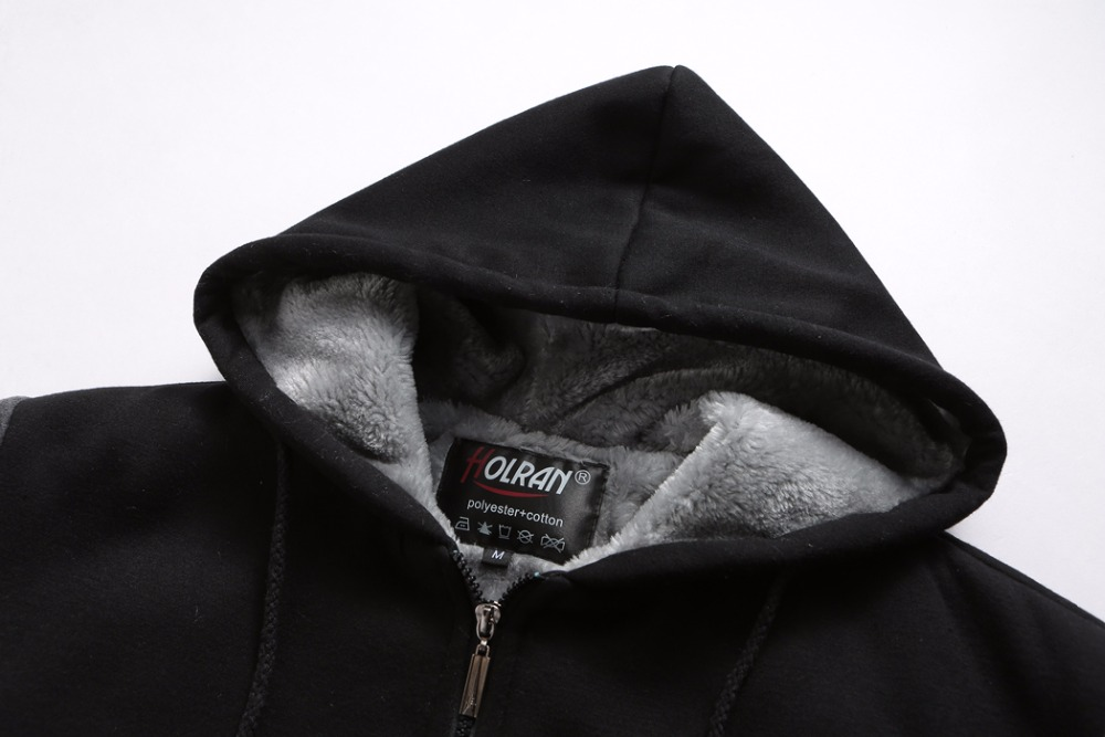 Зимние вязаные толстовки больших размеров 2xl 7xl 8xl верхняя одежда на пуговицах в европейском стиле большие мужские теплые черные толстовки с... - 5