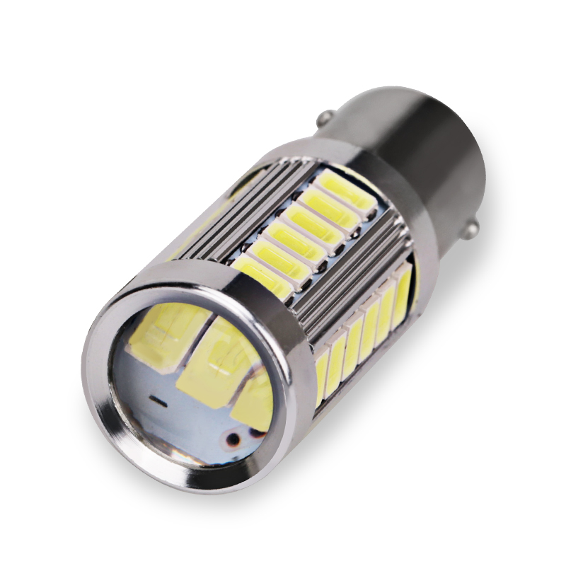 Image 2 - 2pcs 1156 P21W BA15S 5630 5730 LED Brake Lights 12V Auto Reverse Lamp Turn Signal Daytime Running Light red white yellow-in Signal Lamp from Automobiles & Motorcycles