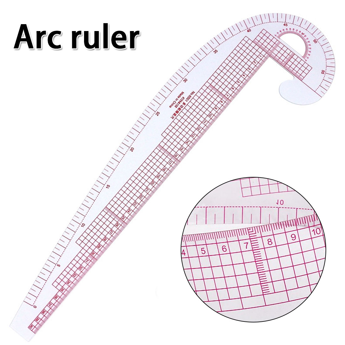 Clothing Arc Ruler  Multi-function Curve Ruler Yardstick Drawing Tool Clothing Ruler Sleeve Shirt Ruler Arc Ruler