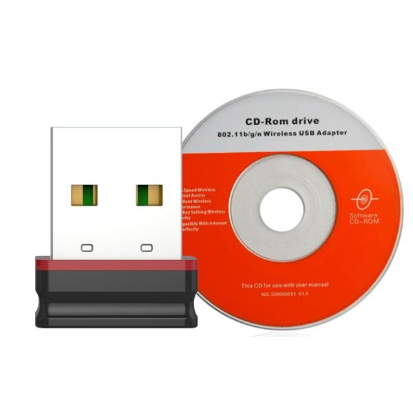 Mini adaptador WiFi inalámbrico 150 Mbps Receptor WiFi USB antena - Equipo de red - foto 2