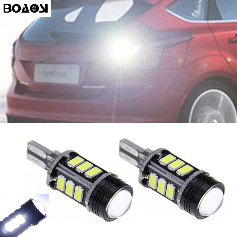 BOAOSI 2x T15 W16W 921 <font><b>LED</b></font> CANBUS Samsung 5630 Chip High Power Backup Reverse Light For <font><b>Ford</b></font> new <font><b>focus</b></font> EDGE KUGA NEW MONDEO 2013 image