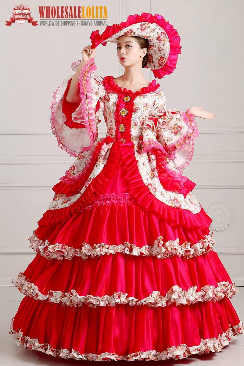 Excelente Vestidos De Dama De época Florales Modelo - Colección de ...