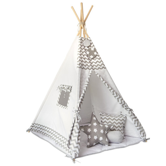 New grey stripe Childrenu0027s tent baby toy house Children play tent Cotton tents Baby dollhouse teepee house  sc 1 st  AliExpress & New grey stripe Childrenu0027s tent baby toy house Children play tent ...