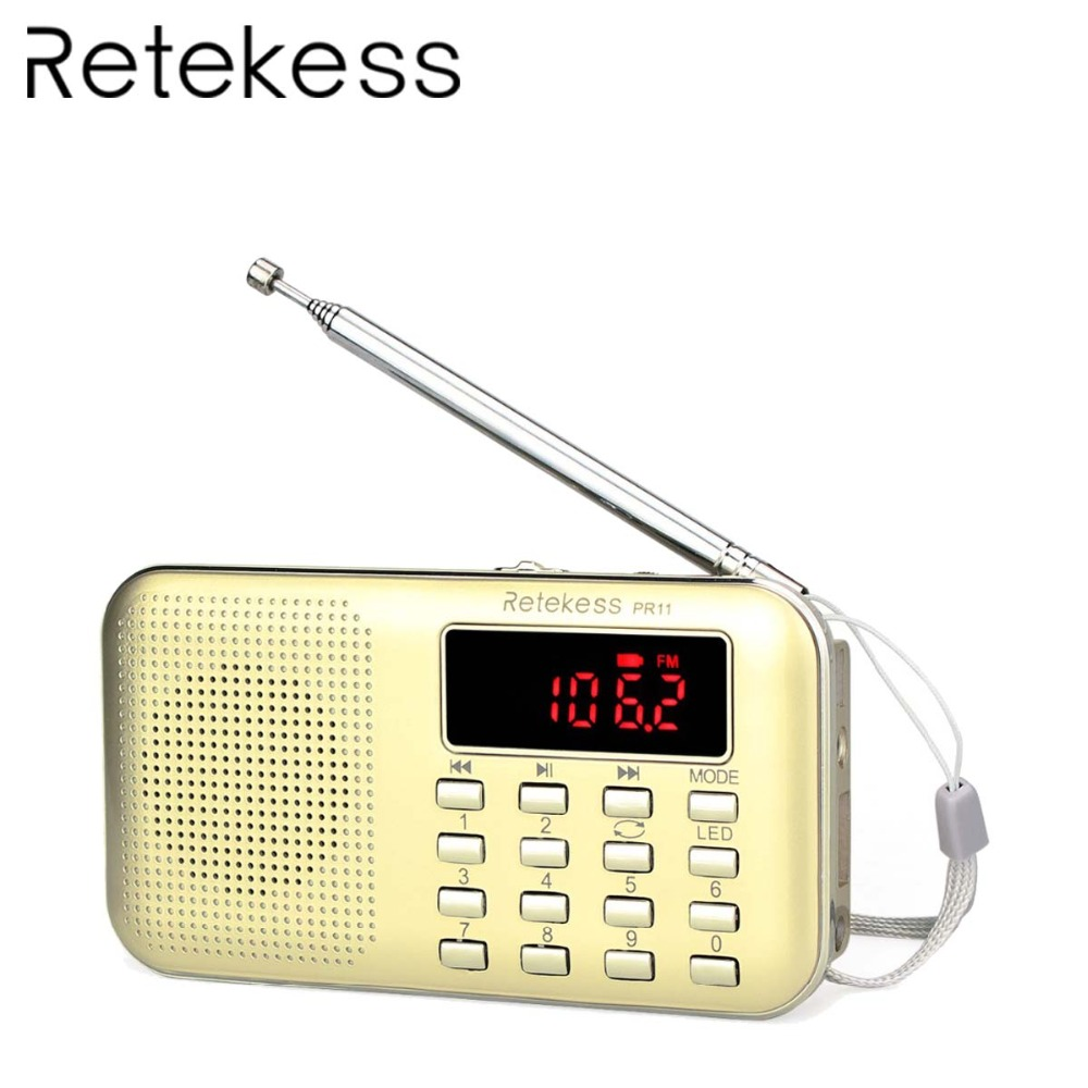 Retekess Pr11 Mini Tragbare Radio Digital Tuning Fm/am Radio Musik-player Taschenlampe Wiederholen Radio Station Bl-5c Batterie F9210j Unterhaltungselektronik Tragbares Audio & Video