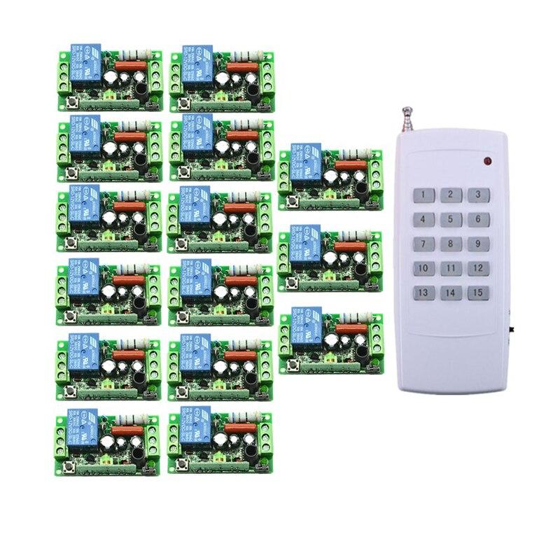 AC 220V 15CH RF Wireless Electric Garage Gate Light Wireless Remote Control Switch & Transmitter/ Radio Receive Controller