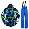 Winter Outdoors Men Ski Suit Mountain Waterproof Windproof Climbing Skiing Set Snowboard Suit Ski Jacket Men