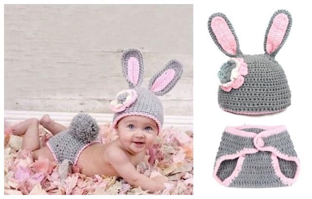 594782d4e Cute Baby Girls Boy Newborn Knit Crochet Clothes Photography Prop ...