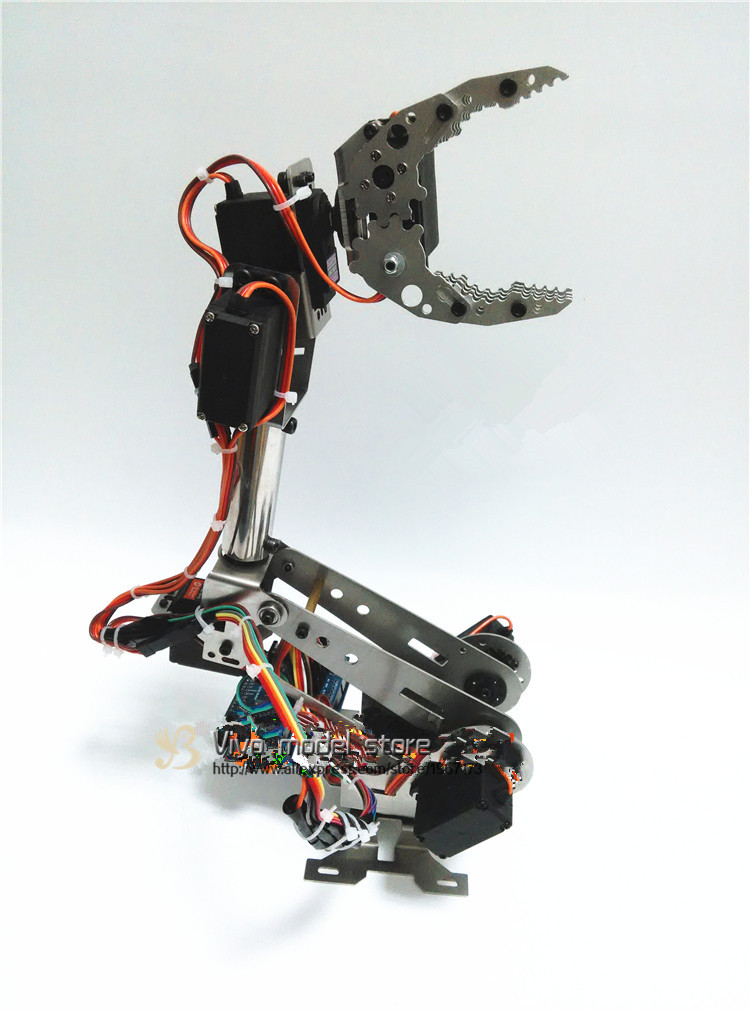 DIY Tracked Robot frame model 7 DOF manipulator ABB + TK3A caterpillar chassis with engine + servo control card,XD-229 Auno R3 diy tracked robot