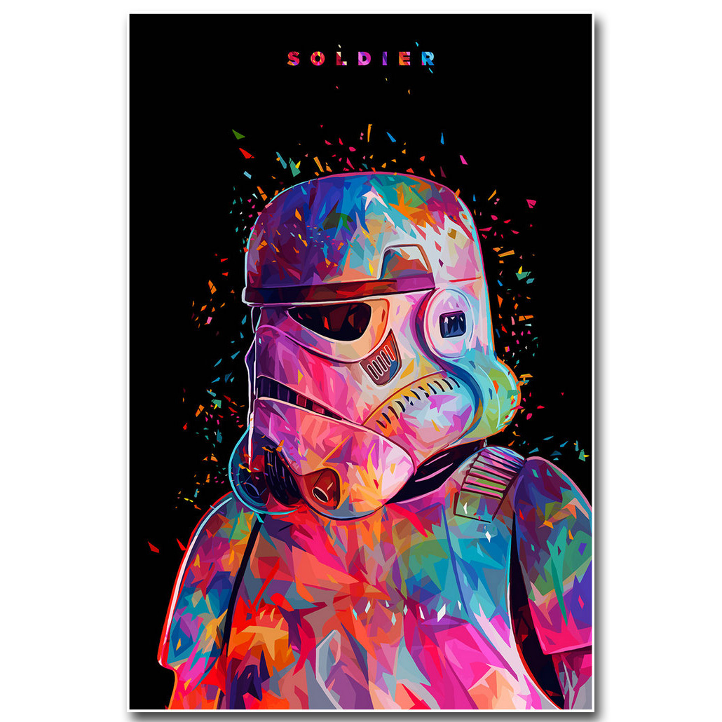 Plakát pro Star Wars 7 The Force Awakens Art Silk Fabric Print 13x20 24x36 inch Movie Stroomtrooper - Obrázkek zdarma pro Room Wall Decor 003