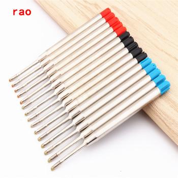 Luksusowa jakość 5 sztuk niebieski czarny czerwony długopis atramentowy wkład do pióra tanie i dobre opinie Napełniania you ping Długopis napełniania 99mm 0 5mm Black Blue Red