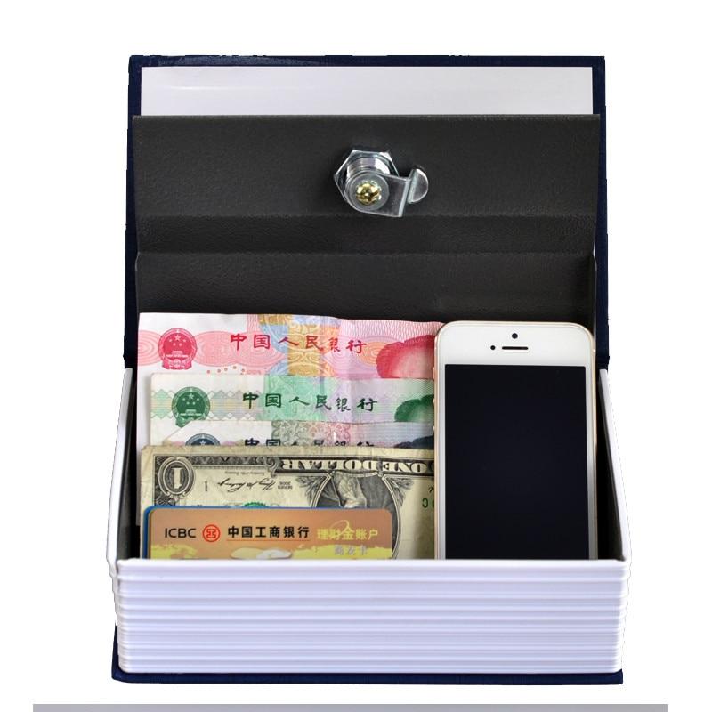 Steel Safe Dictionary Hidden Security Secret Coffer Strongbox Key Lock Safety Box Money Jewelry Storage Case