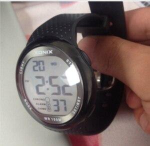 Image 3 - Erkek spor saat Dijital Su Geçirmez 100m Yüzme Izle led ışık Chronograph İşlevli Dalgıç Izle Açık Kol Saati