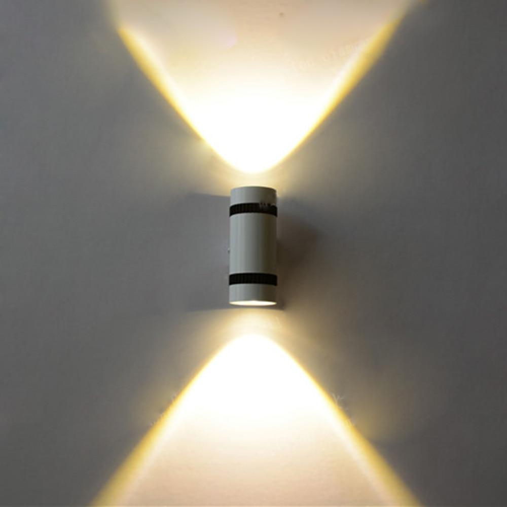 AC85-265V Moderne 6 W (2 * 3 W) COB LED Wandlamp Up Down Cilinder - Binnenverlichting