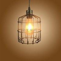 Retro minimalist Lantern Pendant Light creative E27 iron cage industrial wind Pendant Lamp for Tea House Nordic Bar Restaurant