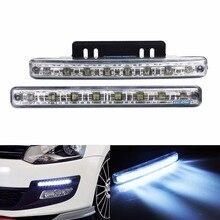 ANGRONG 2 шт./компл. белый 8 светодиодный Универсальный Стиль DRL Дневной светильник универсальная парковочная лампа 7000K для Audi, Benz