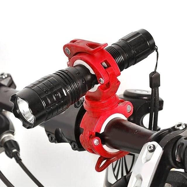 New Universal Bike Handle Bar Holder Mounting For Flashlight Torch BlackER