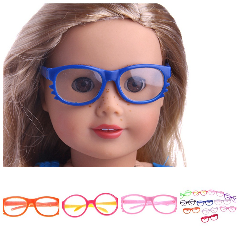 2019 New Glasses Fit 18 Inch Baby Doll Round Glasses Doll Accessories