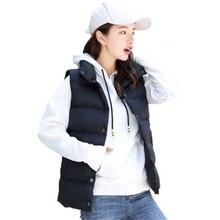 Модный пуховый хлопковый жилет для весны, осени и зимы, женская новая Корейская версия жилета, женский жилет большого размера JQ177