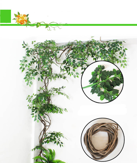 Wedding arch backdrop 63cm green artificial fake plastic plant wedding arch backdrop 63cm green artificial fake plastic plant leaves branches home garden wall decoration supplies junglespirit Image collections