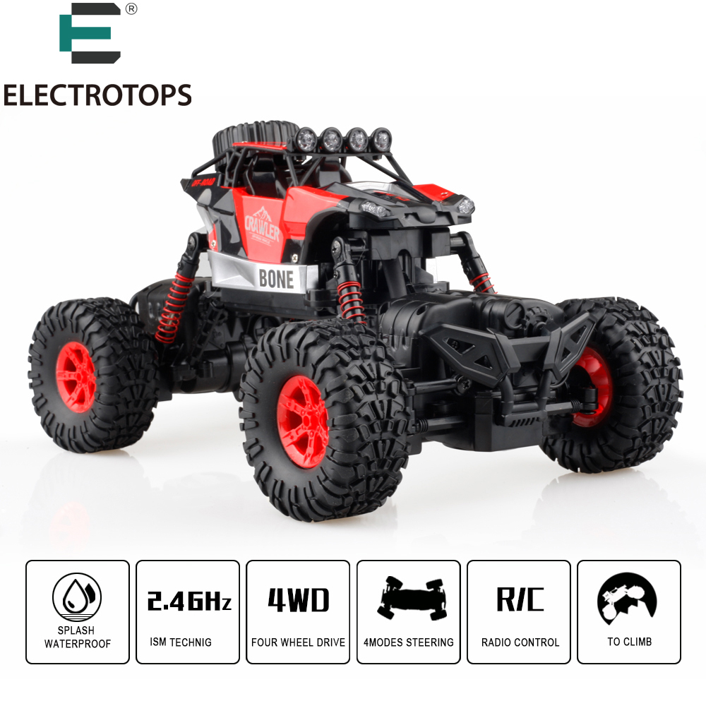 E T RC Car RC Rock Crawler 4WD 4 Modes Steering Waterproof