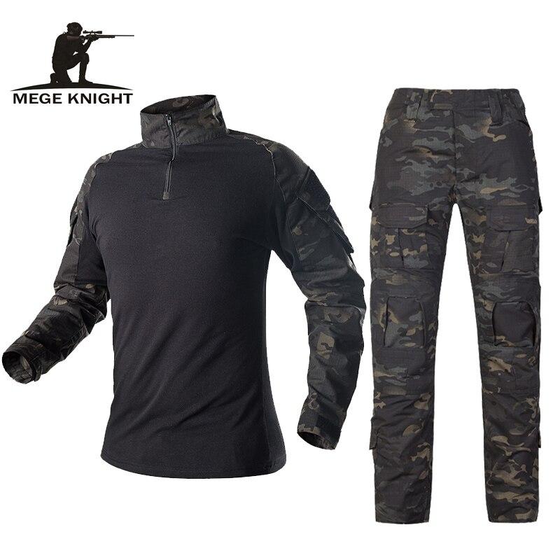 Mege Armee Militär Uniform Taktische Camouflage Anzug Multicam Combat Shirt Hosen Soldat USMC Airsoft Ausrüstung Frauen Navy Seal