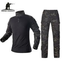 Mege militar do exército uniforme tático camuflagem terno calças camisa de combate multicam soldado usmc airsoft equipamentos feminino marinha selo