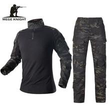 Mege Militaire Uniform Tactische Camouflage Pak Multicam Combat Shirt Broek Soldaat Usmc Airsoft Apparatuur Vrouwen Navy Seal