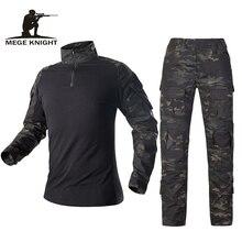 Mege армейская Военная Униформа Тактический Камуфляжный костюм Мультикам боевая рубашка брюки Солдат USMC страйкбол снаряжение Женская Морская печать
